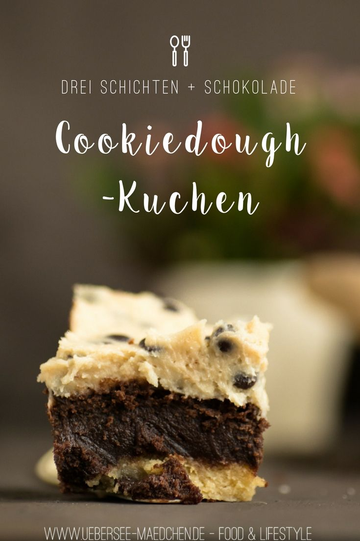 Cookiedough cake with brownie coating