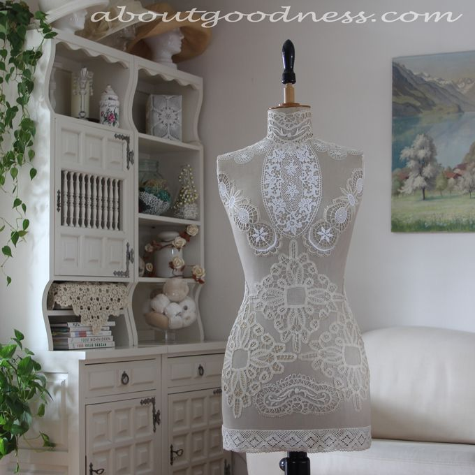 Recycle doily lace mannequin diy