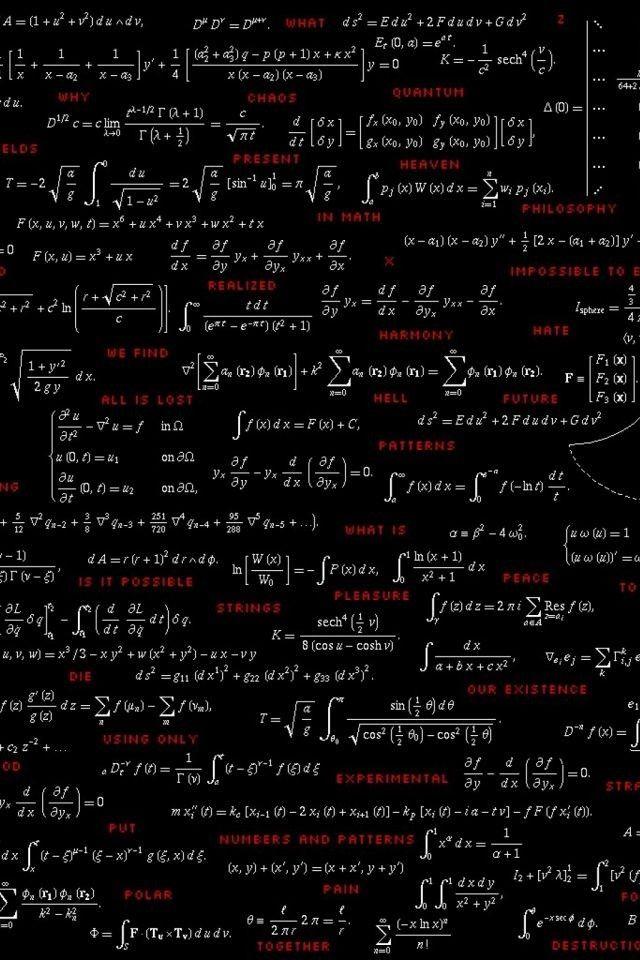 Wallpaper For Phone 3 Rumus Kimia Matematika Fisika