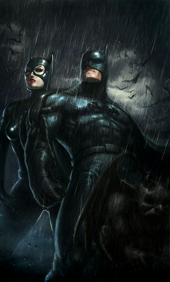 Batman & Catwoman | Artwork by ~Memed  Auction your comics on http://www.comicbazaar.co.uk