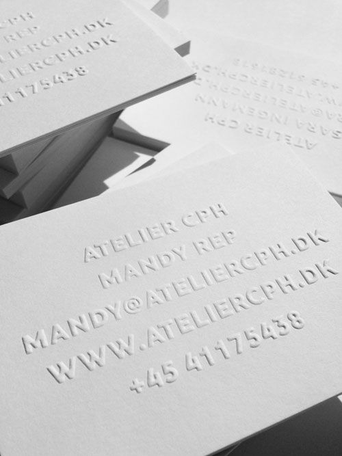 294 best business cards images on pinterest brand identity atelier cph business cards atelier cph reheart Images