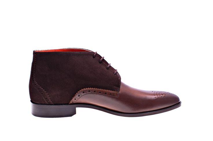 Melik schoenen, herenboot Cortina cognac