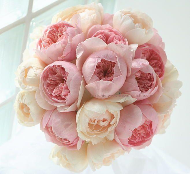 単発ブーケレッスン バラのブーケ 6月 : 一会 ウエディングの花