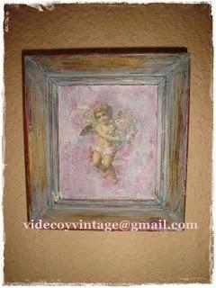 videcoyvintage Deco: Marco antiguo y Angel