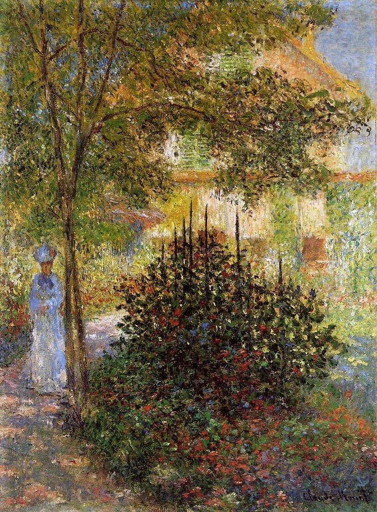 Claude Monet - Camille Monet in the Garden at Argenteuil  1876