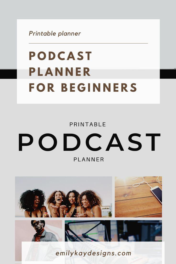 Podcast Content Planner & Calendar PRINTABLE Content