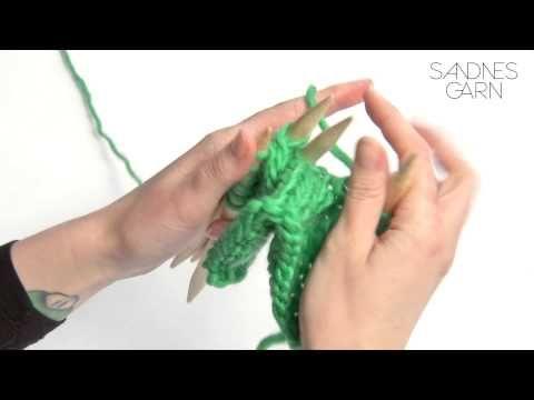 Sandnes Garn - Hvordan strikke legg - YouTube