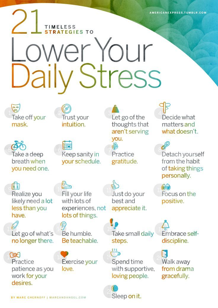 21 Timeless Strategies To Lower Your Daily StressBy Marc Chernoff, co-founder, http://MarcandAngel.com See the full article here. The journey never stops… http://MarcandAngel.com is a regular paid contributor to the American Express Tumblr Community.