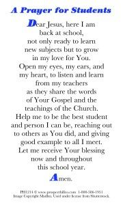 A prayer for students