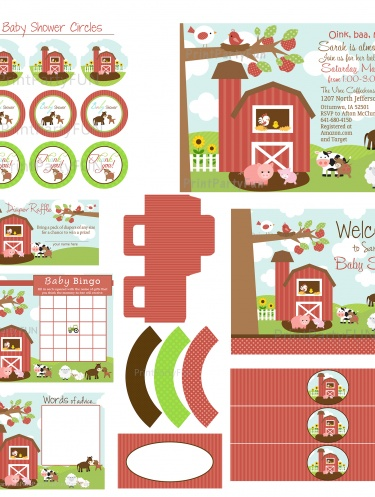 farm baby showers farm theme farm party baby fever shower gifts baby