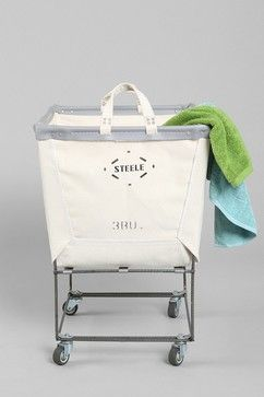 Canvas Elevated Laundry Hamper eclectic hampers
