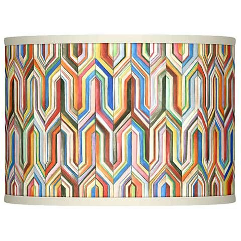 Synthesis Giclee Glow Lamp Shade 13.5x13.5x10 (Spider) - #37869-2N385 | Lamps Plus