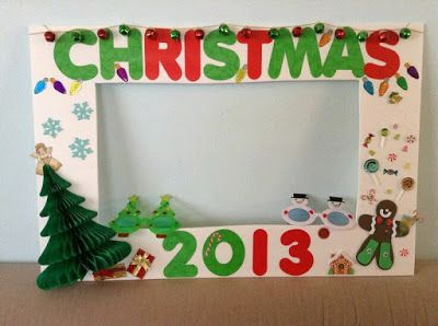 más y más manualidades: Crea un marco gigante de fotos para tu reunión navideña