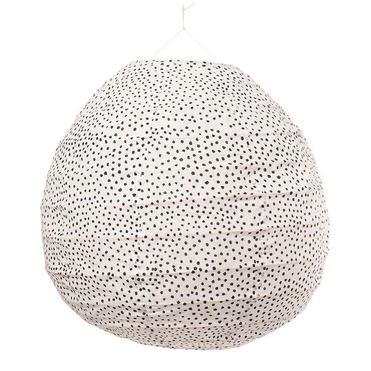 Fleck Lampskärm 40x41cm, Vit/Svart, Afroart