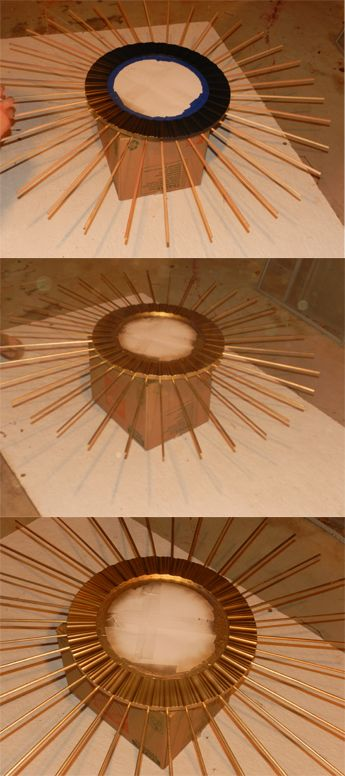 Pinterest challenge: Mission Completed! We decided to DIY a sunburst mirror. Out of all the things we thought of (there were so many) the mirror seemed like the best idea. I happen to be a little o...