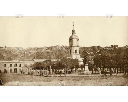 Una vista diferente de la Plaza Victoria -- Año de la Fotog.: 1870 -- MHN