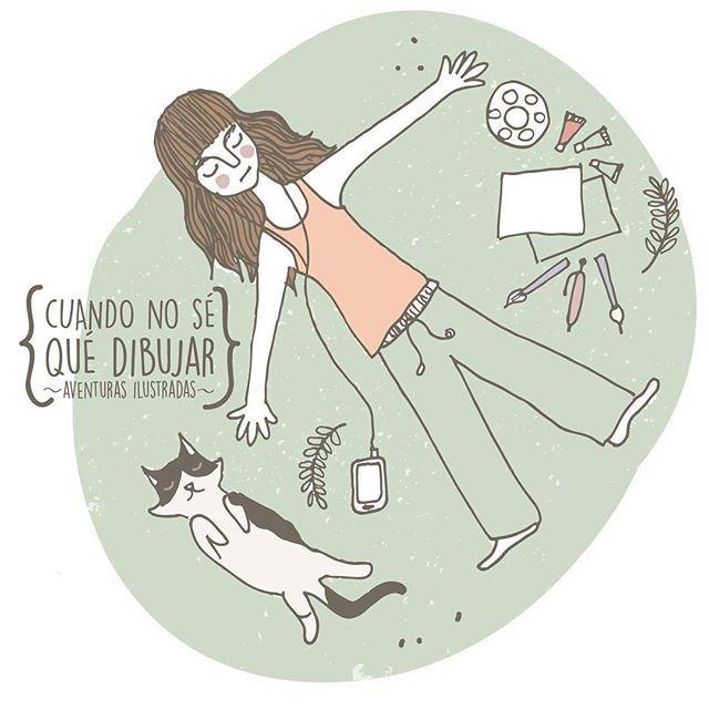 { Bloqueos mentales }  .  .  .  .  .  .  .  #aventurasilustradas #lahappicidad #draw #illustration #dibujitos #unicorlife #pastelminimal
