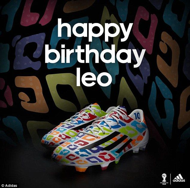 Leo and the technicolor boots: Messi's birthday boots, made for his 27th by Adidas