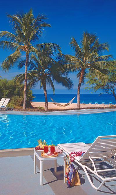 【H.I.S.】【HAPUNA BEACH PRINCE HOTEL * ハワイ島】ホテルの目の前広がるビーチはハワイ島でも1、2位を争うほどの美しさだと言われています。日本語ゲストサービスラウンジもあるので滞在も安心・快適。 #travel #hawaii #hotel