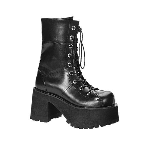 Womens Boots Black Therapy Louis Pu