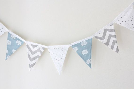 Baby Bunting  Clouds Blue Grey and White  Limited by raenne, $50.00