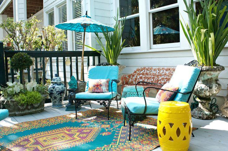 asian porch by mina brinkey recycled bohemian outdoor rug