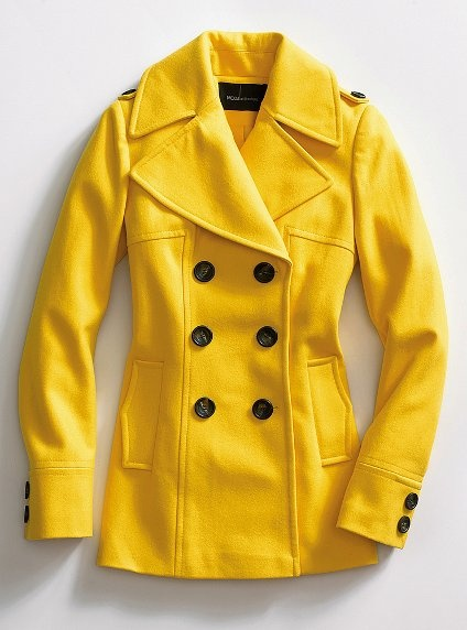 This looks just like the yellow pea coat I saw. I really want it. I may have to see if they have it in Victoria Secret's store. :)