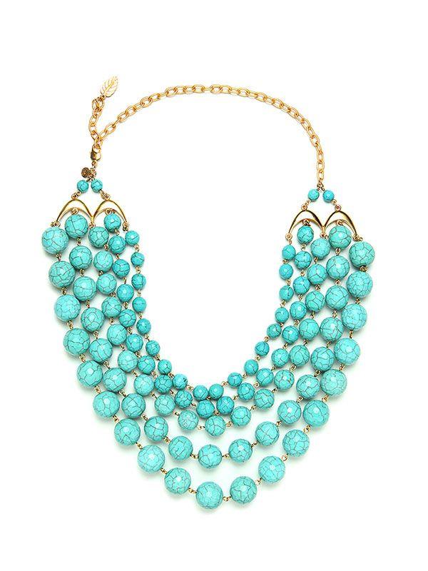David Aubrey Turquoise Bead Necklace
