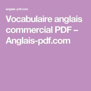 Vocabulaire anglais commercial PDF – Anglais-pdf.com