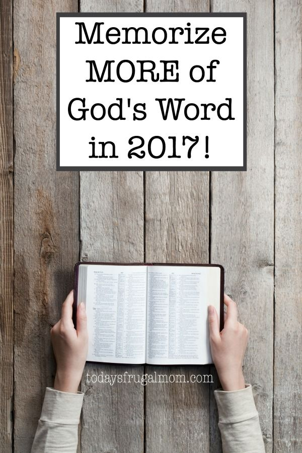 Come on a journey with 1,800+ other women ready to memorize more of God's Word together in 2017! :: todaysfrugalmom.com
