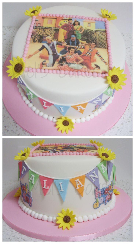 Hoopla doopla theme cake inspired by Hoopla Doopla kids show.