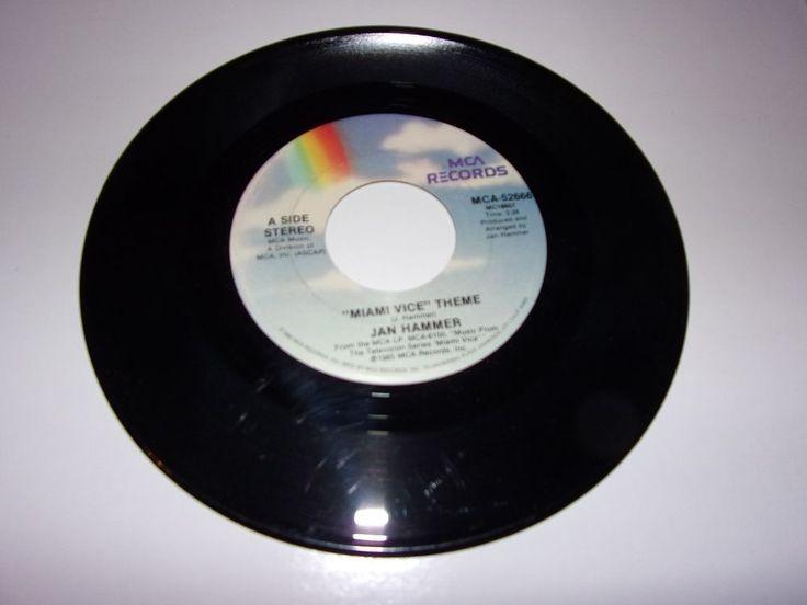 "45"" Jan Hammer: Miami Vice Theme / 1985 / VG+"