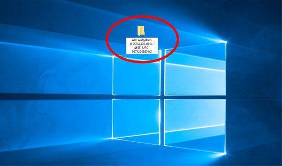 Little trick makes it possible: Hidden God mode in Windows 10 enable