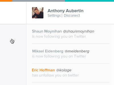 Quickly follow/unfollow / Anthony Aubertin