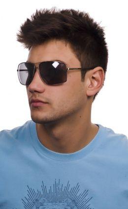 Óculos Cavalera Metal Grande Prata Semi Espelhado Masculino