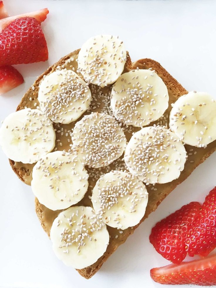 Nut Butter, Banana, and Chia Seed Toast - 8 Healthy Breakfasts for Mornings on the Run!