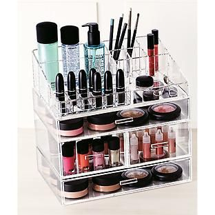Great way to organize my makeup! #TCSOrganized  The Container Store > Large Acrylic Makeup Organizer