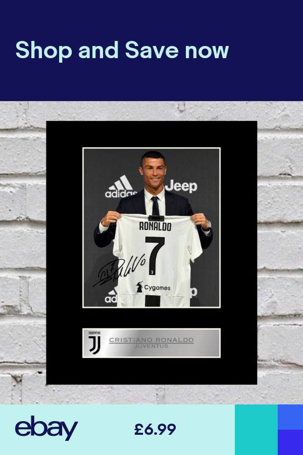 online store 1635d 09b5b Cristiano Ronaldo Signed Mounted Photo Display Juventus FC ...