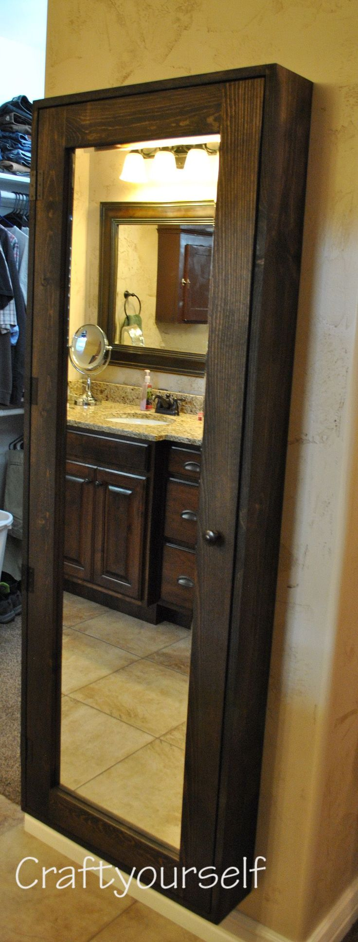 DIY Bathroom Cabinet with Mirror - craftyourself.com