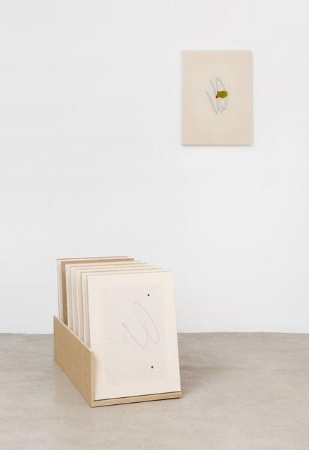Riccardo Baruzzi | Porta Pittura del dritto e rovescio con linea retta  (2017) | Available for Sale | Artsy