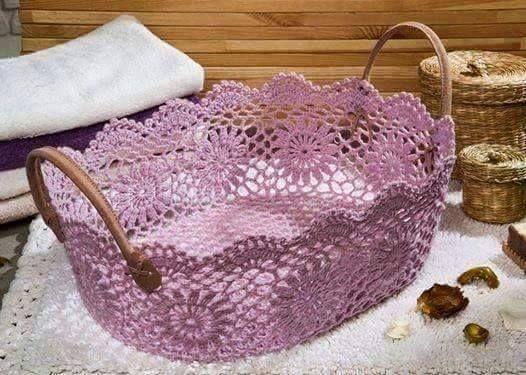 Oltre 1000 idee su cestini da bagno su pinterest bagno - Cestini all uncinetto per il bagno ...