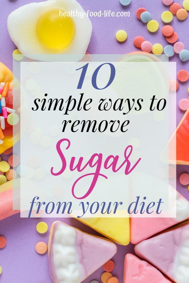 how to remove sugar from your diet