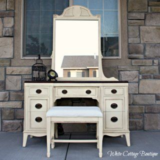 Before And After U2013 Yellow Antique Vanity