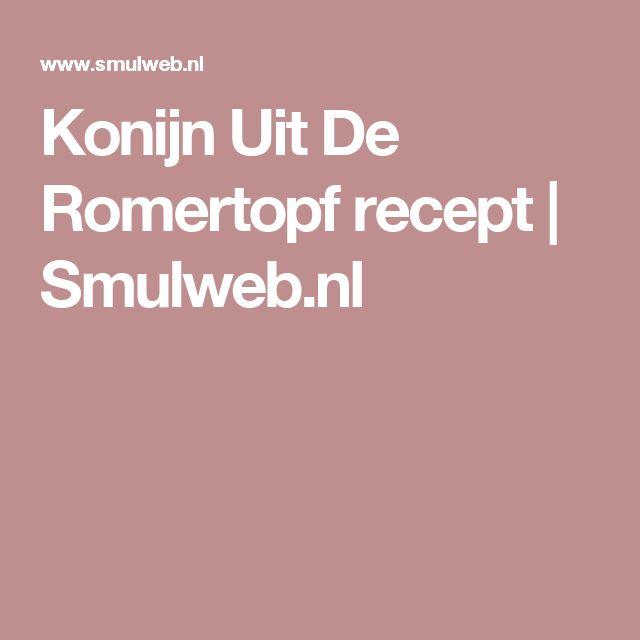 Konijn Uit De Romertopf recept | Smulweb.nl