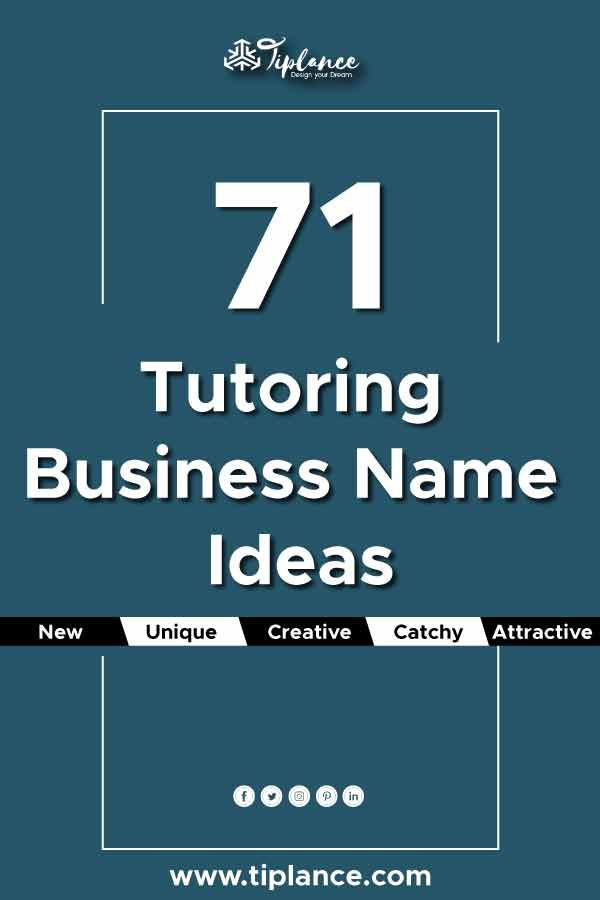 71 Tutoring Business Name Ideas Tutoring Business School Names