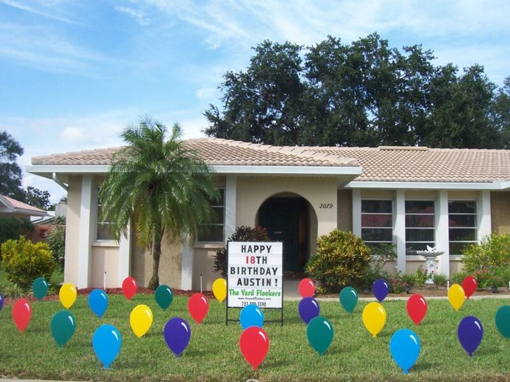 Balloons Birthday Lawn Card