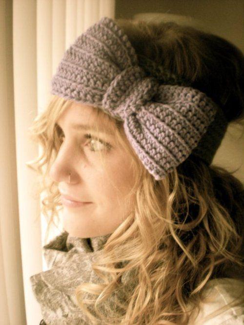 Crochet Bow Headband...I want soooo much!