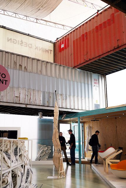 shipping container pavilion @ copenhagen design week by dragenki, via Flickr