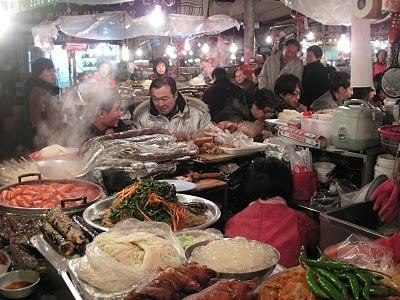Kwang Jang night market, Seoul