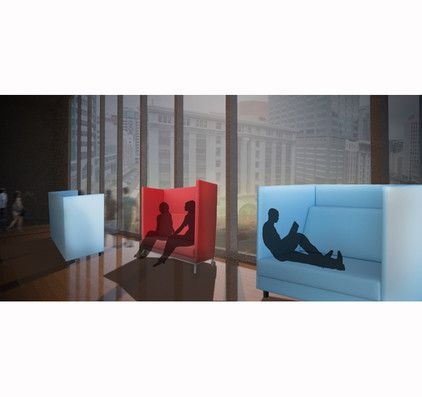 The Bling booth is a privacy-friendly design, ideal for personal communication.